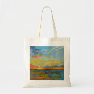 Turquoise Blue Sunset Tote Bag