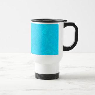 Turquoise Blue Tonal Abstract Swirled Background Travel Mug