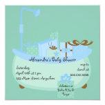 Turquoise & Blue Tub Baby Shower Invitation