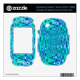 turquoise blue vibrant abstract samsung gravity touch skins