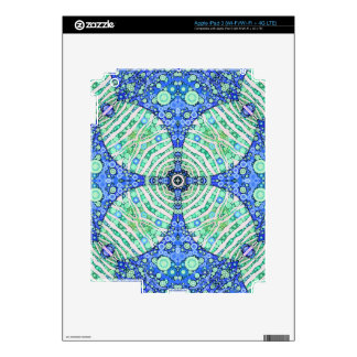 Turquoise Blue Zebra Abstract Skin For iPad 3