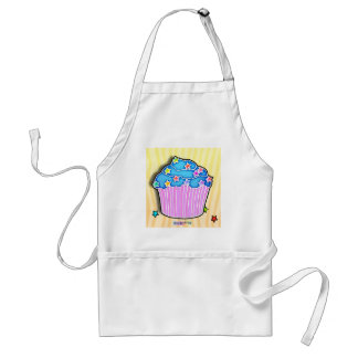 Turquoise Blueberry Frosted CUPCAKE APRON