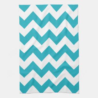 Turquoise Bold Chevron Towel