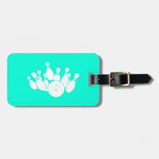 Turquoise Bowling Bag Tag