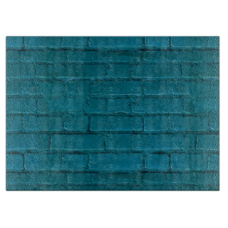 Turquoise Bricked Large Cutting Board