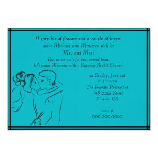 Turquoise Bridal Shower Card