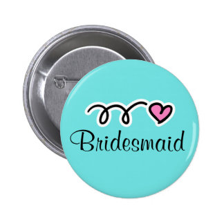 Turquoise bridesmaid buttons