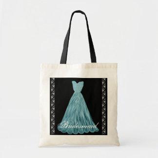 TURQUOISE Bridesmaid Dress Cotton Tote Bag