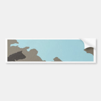 Turquoise & Brown Abstract Art Bumper Sticker