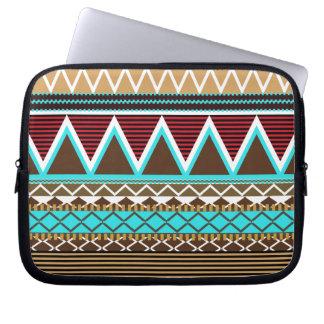 Turquoise & Brown Modern Tribal Laptop Sleeve