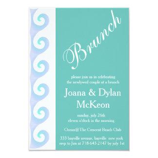 Turquoise Brunch After Wedding Invitation