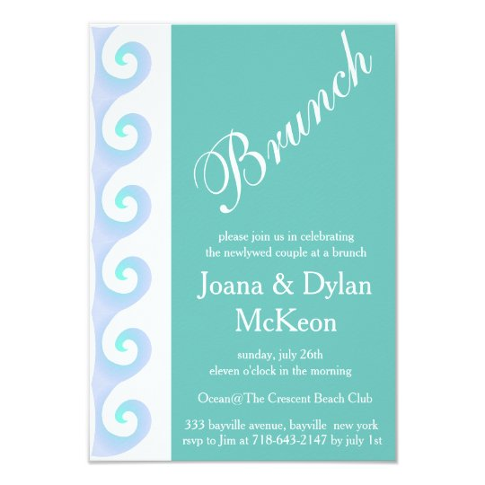 After Wedding Brunch Invitation: Turquoise Brunch After Wedding Invitation