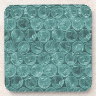 Turquoise bubble wrap pattern coaster