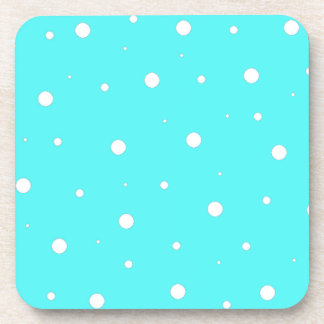 Turquoise Bubbles Drink Coaster