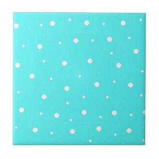 Turquoise Bubbles Ceramic Tiles