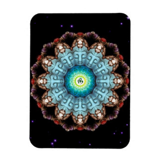 Turquoise Buddha Om Mandala Premium Flexi Magnet