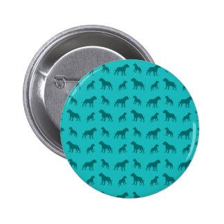 Turquoise bulldog pattern button