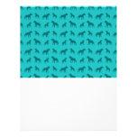 Turquoise bulldog pattern custom flyer
