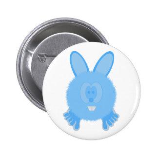 Turquoise Bunny Pom Pom Pal Button