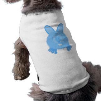 Turquoise Bunny Pom Pom Pal Dog Tee