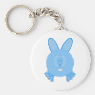 Turquoise Bunny Pom Pom Pal Keychain