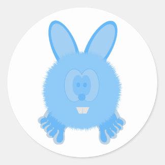 Turquoise Bunny Pom Pom Pal Stickers