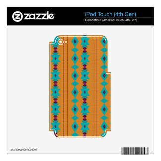 Turquoise Burnt iPod Touch 4G Decal
