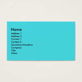 Turquoise Business Card