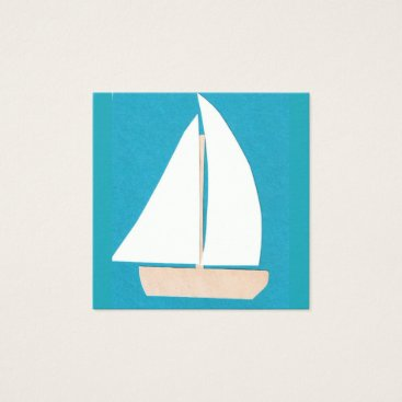 Professional Business Turquoise Business Card with Sailboat
