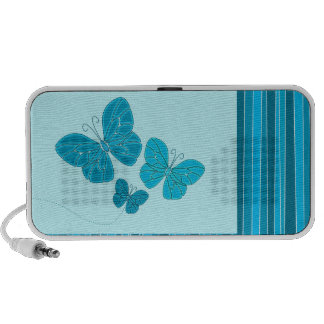 Turquoise butterfies doodle speakers