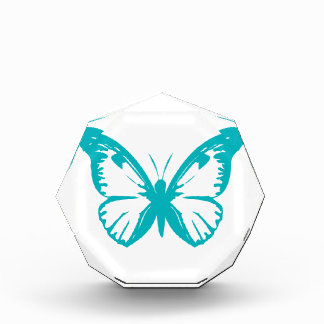Turquoise Butterfly Acrylic Award