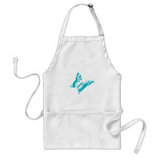 Turquoise Butterfly Adult Apron
