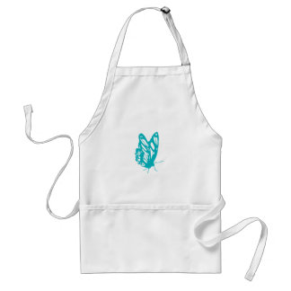 Turquoise Butterfly fly,caterpillar,pattern,insect Adult Apron