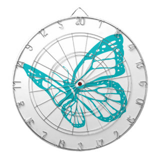 Turquoise Butterfly fly,caterpillar,pattern,insect Dartboard With Darts