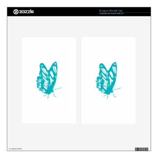 Turquoise Butterfly fly,caterpillar,pattern,insect Kindle Fire Decals