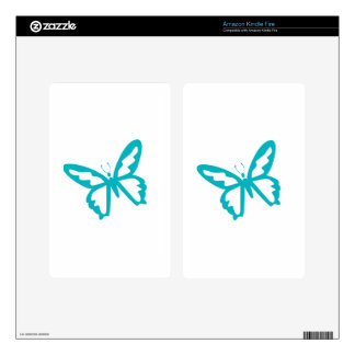 Turquoise Butterfly fly,caterpillar,pattern,insect Kindle Fire Skins