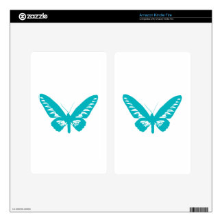 Turquoise Butterfly fly,caterpillar,pattern,insect Kindle Fire Decal