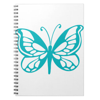 Turquoise Butterfly fly,caterpillar,pattern,insect Spiral Notebook