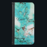 "Turquoise Butterfly Gemstone Phone Case<br><div class=""desc"">Gorgeous phone case made from a Turquoise Gemstone with a simple cute Butterfly. Personalize with your name,  initials,  or anything you like. Great gift idea!</div>"
