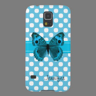 Turquoise Butterfly Samsung Nexus Phone Case Galaxy S5 Case