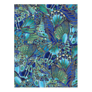 Turquoise butterfly wings post cards