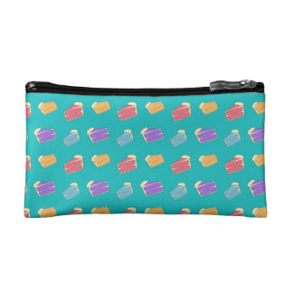 Turquoise cake pattern cosmetic bags