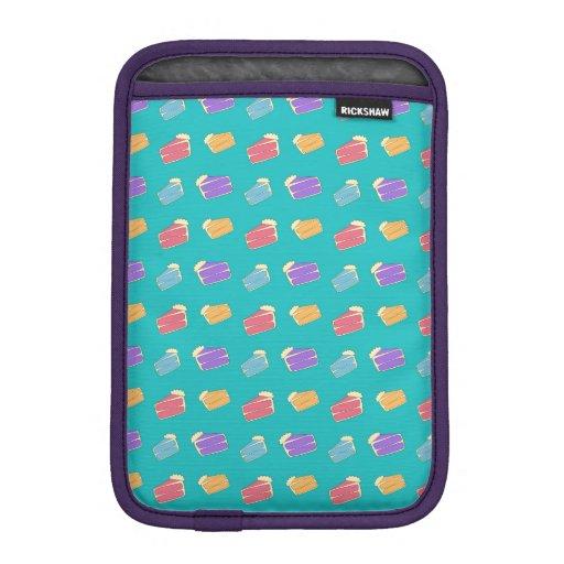 Turquoise cake pattern sleeve for iPad mini