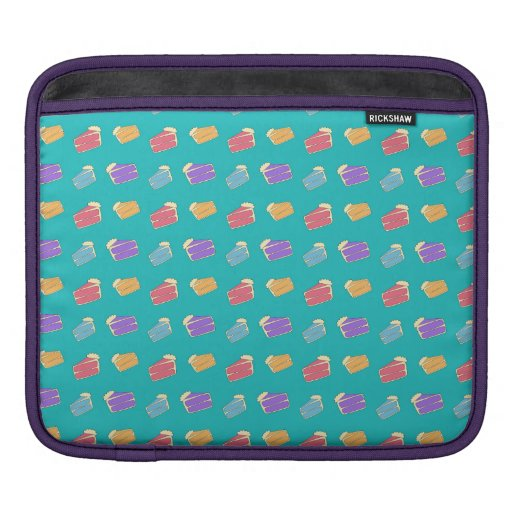 Turquoise cake pattern sleeve for iPads
