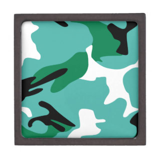 Turquoise Camouflage Gift Box