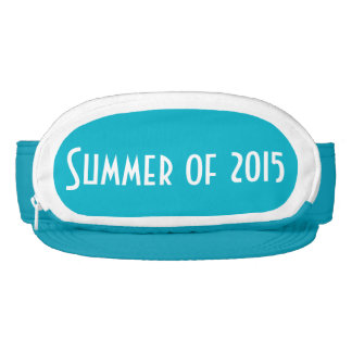 Turquoise Cap-Sac fanny pack for head, Summer 2015 Visor