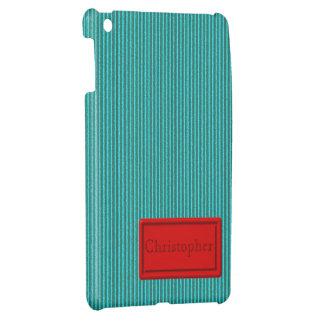Turquoise Cardboard iPad Mini Case Template
