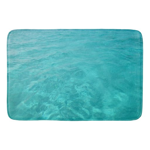 Turquoise Bath Rugs For Dry The Feet Simple Turquoise: Turquoise Caribbean Sea Bath Mat