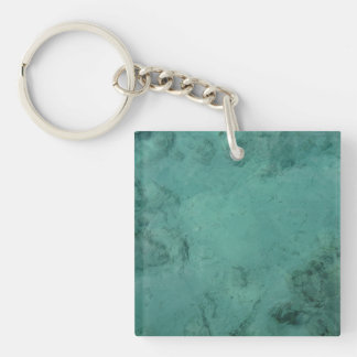 Turquoise Caribbean Tropical Sea Keychain