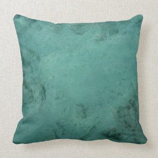 Turquoise Caribbean Tropical Sea Throw Pillow